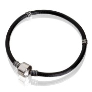 Bracelet (rubber, silver, 17 cm, 18 cm, 19 cm, 20 cm, clip)