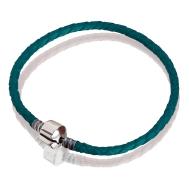 Bracelet (turquoise leather, silver, 17 cm, 18 cm, 19 cm, 20 cm)