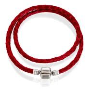Bracelet ( leather,  40-42) white