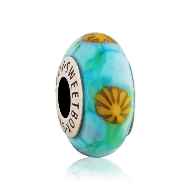 Beads Millefiori Beads (turquoise)
