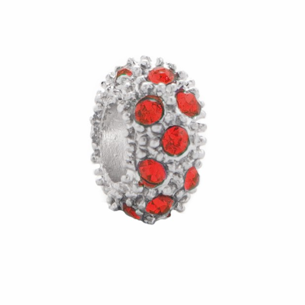 Crystal Bead scattering (red)