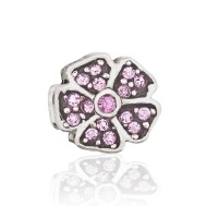 Бусина Цветочный аромат розовый