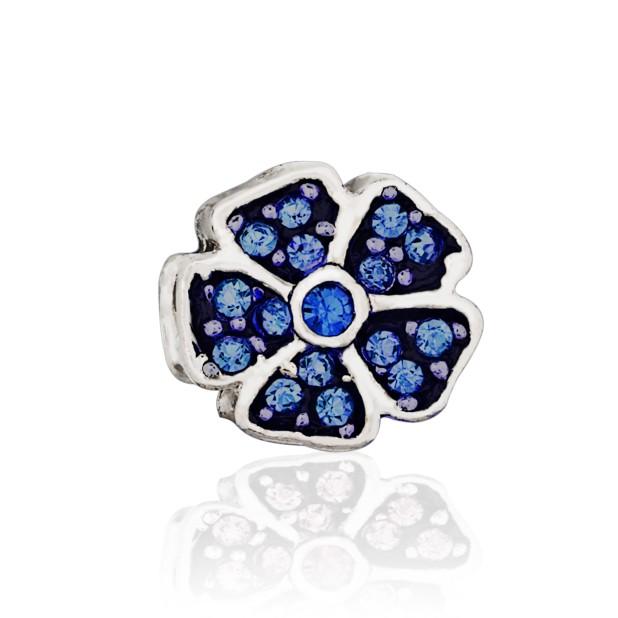 Бусина Цветочный аромат синий