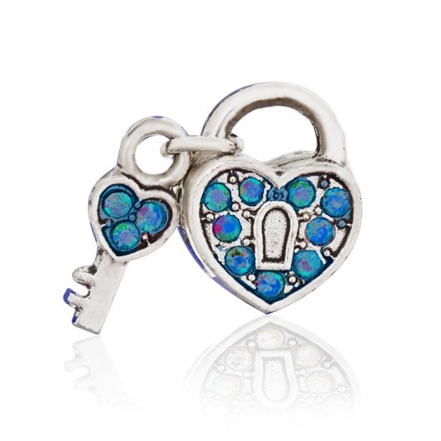 Open Heart Bead (blue)