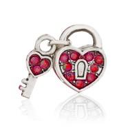 Бусина Открытое сердце (красное)