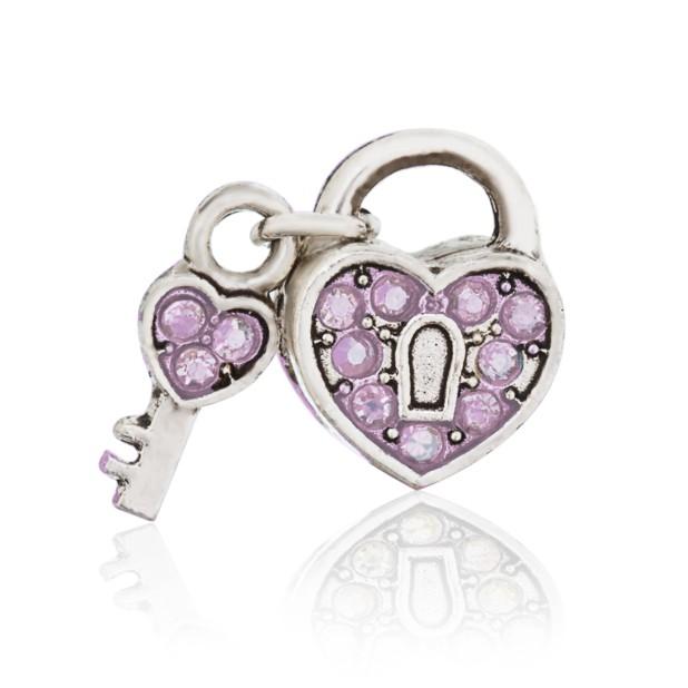 Bead open heart (pink)