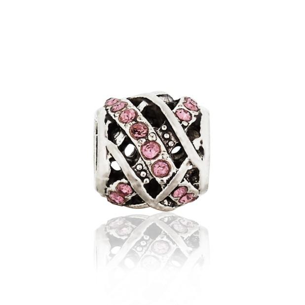 Бусина Меланж розовый