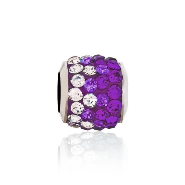 Бусина Мозаика фиолетовая