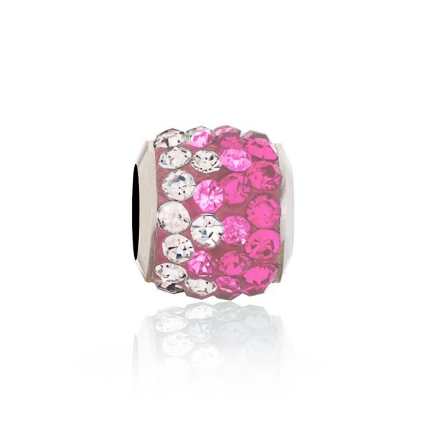 Бусина Мозаика розовая