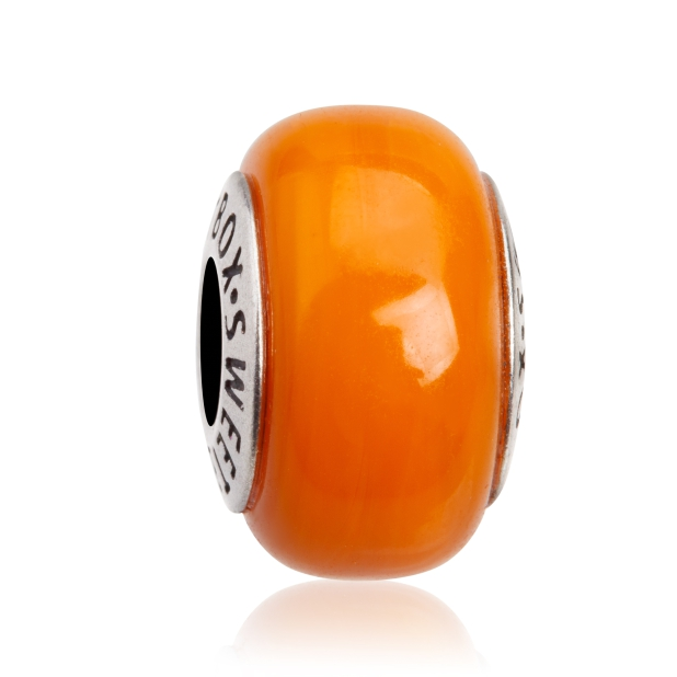 Бусина Апельсиновый сорбет