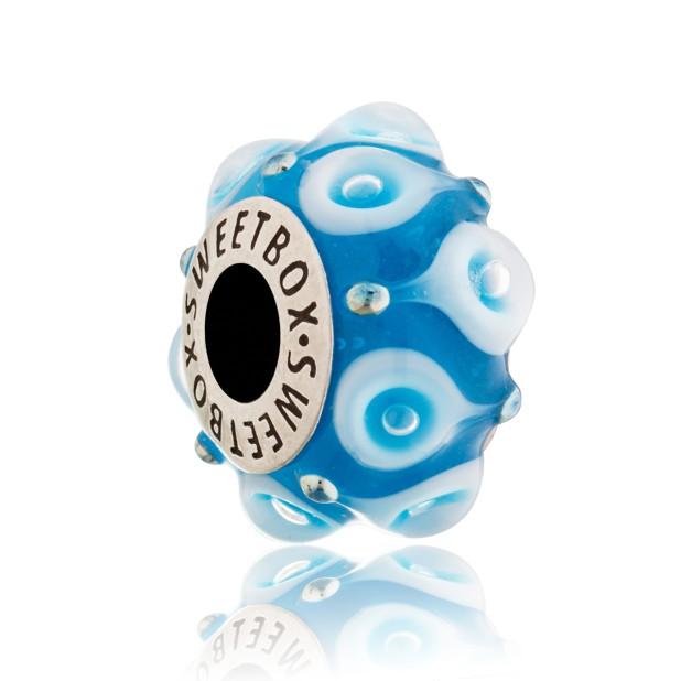 Crystal teardrop bead (blue)