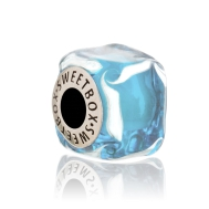 Bead Blue Kissel Ice Cube (Silver)