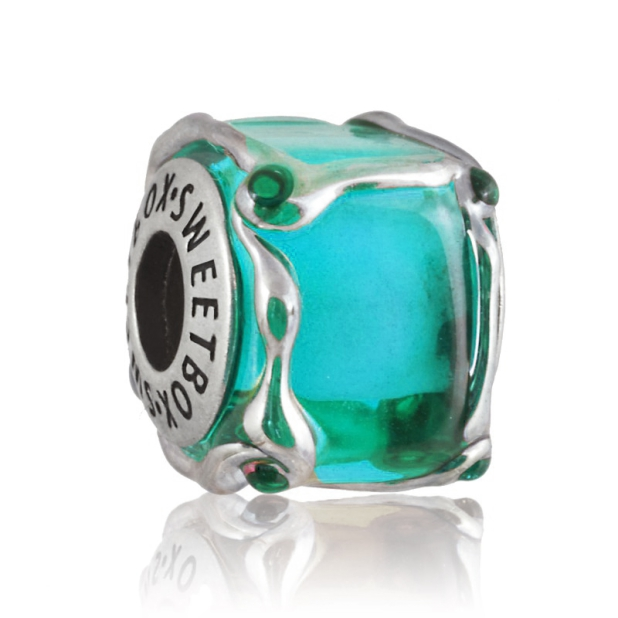 Бусина Кубик льда Тиффани (в серебре)