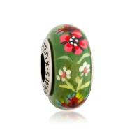Bead of the Spring Carpathians in silver