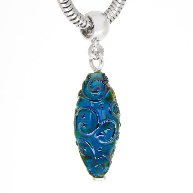 Amphora pendant sapphire in silver
