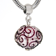 Pendant Ball of Cardamom in silver