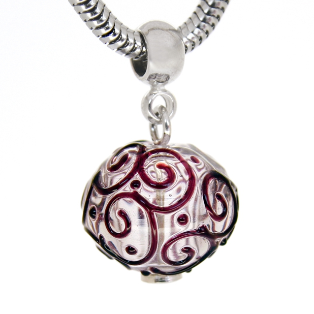 Pendant Ball of Cardamom in silver