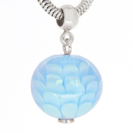 Pion blue pendant in silver