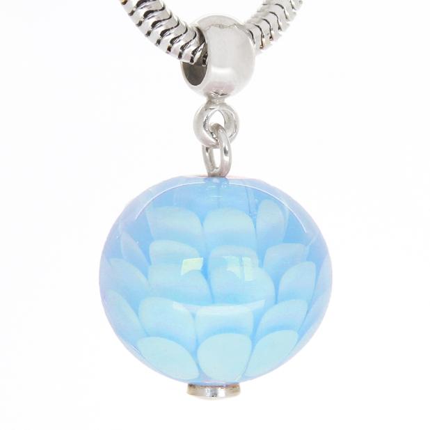 Pion blue pendant in silver